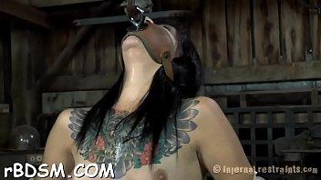gag choke ring Indian tits at work