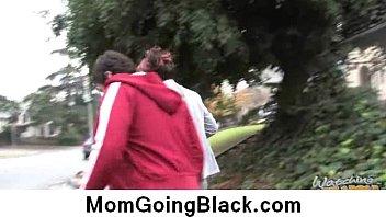 caught jerking busty white stepson black mom Juicy nylon cum 12