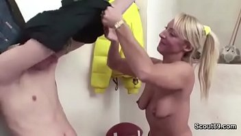 forced boy young milf Girl makes guy cum on another girls ass
