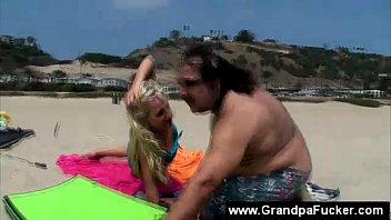 seducing men beach on wife Touch woman groping no panties