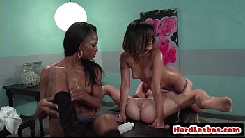 spit lesbian sloppy tits Vintage mom caught her daughter and son