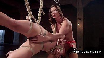 lesbians bbw anal Titty fuck by male stripper