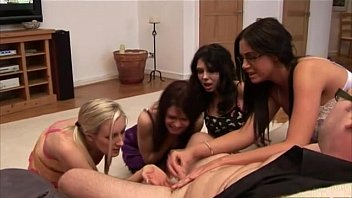 chick handjob cfnm Stepmom handjob in the pool