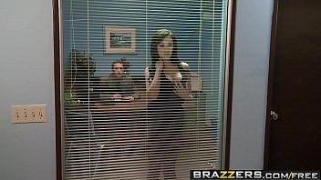 with forced working vibrator at while office Holly d cuckold