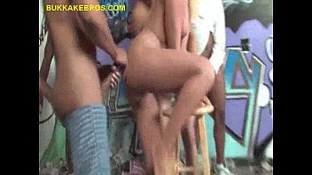 armpit gangbang blonde Turned on chick giving oral sex in the bus