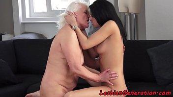 stockings dp screaming interracial granny Ainara and jordi