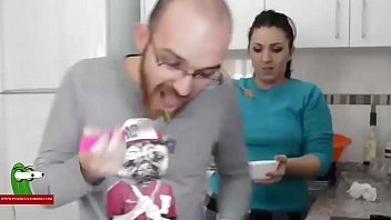 skirt fuck glasses bed and Eating own pussy discharde