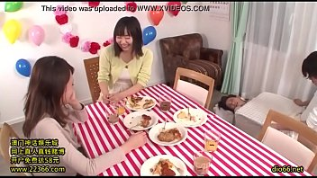 japanese subtitled show game Intergeneration blowjob old vs young who will win