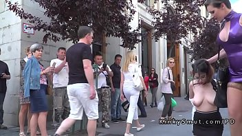 busty candid huge street Wife forced gangbang front of friends